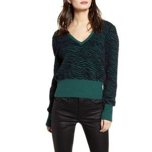 ASTR NEW green black tiger stripe sweater sz Large